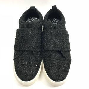 DV black sparkle tweed sneaker